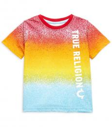 True Religion Little Boys Multicolor Rainbow Drip T-Shirt
