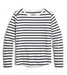 J.Crew Girls Ivory Striped T-Shirt