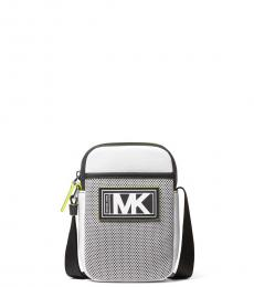 Michael Kors White/Neon Yellow Cooper Smartphone Mini Crossbody