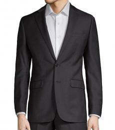 Calvin Klein Black Wool Extreme Slim-Fit Suit