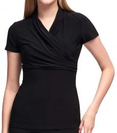 DKNY Black Ruched Top