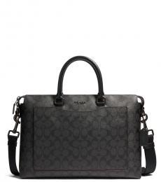 Coach Black/Oxblood Beckett Pocket Large Briefcase Bag