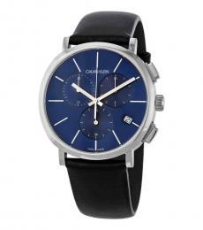 Calvin Klein Black Chronograph Blue Dial Watch