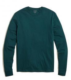 J.Crew Teal Long Sleeve Jersey T-Shirt