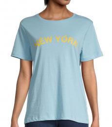Rebecca Minkoff Sky Blue New York Delaney T-Shirt