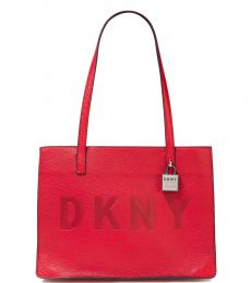 DKNY Red Commuter Medium Tote
