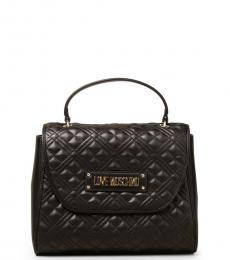 Black Quilted Small Satchel