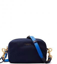 Tory Burch Navy Blue Perry Mini Crossbody Bag