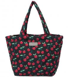 Black Quilted Large Tote