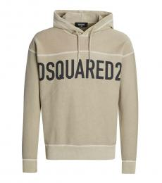 Dsquared2 Beige Logo Pullover Hoodie