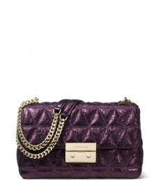 Purple Sloan Medium Shoulder Bag