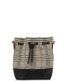 Proenza Schouler Black Patterned Small Bucket Bag