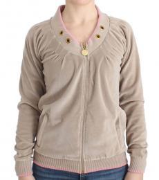 Just Cavalli Beige Zip Up Jacket