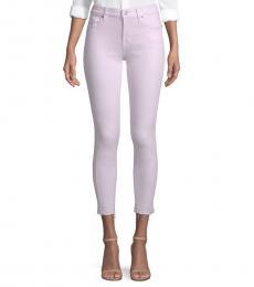 Pale Lavender Ankle Skinny Jeans