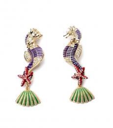 Multi Color Sea Horse Earrings