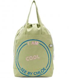 Green I Am Cool Large Tote