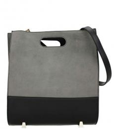 Grey Solid Medium Tote