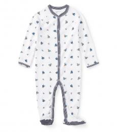 Ralph Lauren Baby Boys White Polo Bear Coverall