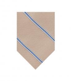 Michael Kors Taupe Pebble Stone Stripe Tie