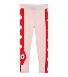 Girls Pink & Red Leggings
