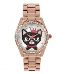 Rose Gold Meowing Watch