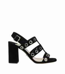 Prada Black Open Toe Heels
