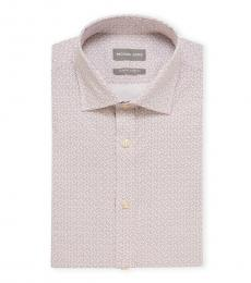 Purple White Slim Fit Dress Shirt