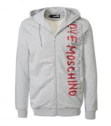 Love Moschino Grey Side Logo Sweatshirt