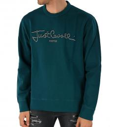 Green Logo Embroidered Sweatshirt