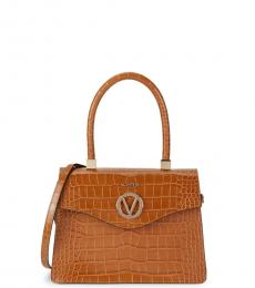 Caramel Melanie Embossed Medium Satchel