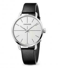 Calvin Klein Black Even Silver Dial Watch
