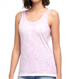 Pink Scoop Neck Tank Top