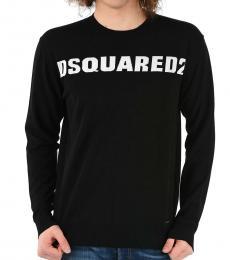 Dsquared2 Black Round Necked Sweater