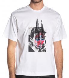 Diesel White Teorial Crew Neck T-Shirt