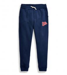 Ralph Lauren Boys Newport Navy Logo-Patch Pants