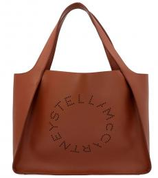 Stella McCartney Brown Logo Large Tote