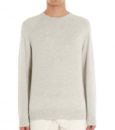 Brunello Cucinelli Light Grey Solomeo Solid Sweater
