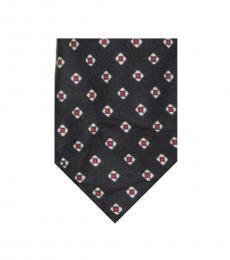 Navy-Red Foulard Tie