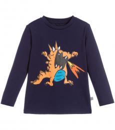 Stella McCartney Little Boys Blue Graphic Print T-Shirt