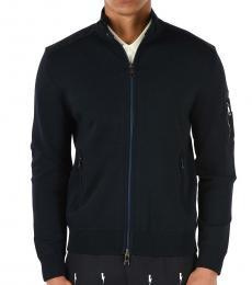 Neil Barrett Navy Blue Full Zipped Jacket