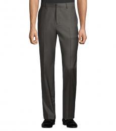 Theory Dark Grey Wool-Blend Pants