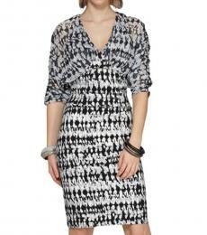 Grey Sally V-Neck Knit Dress