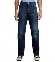 True Religion Indigo Cascade Relaxed Straight Jeans