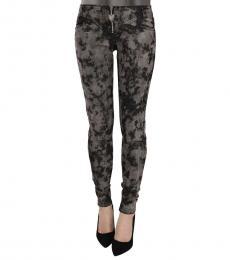 Just Cavalli Black Gray Faded Skinny Denim  Jeans