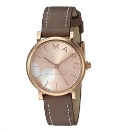 Marc Jacobs Grey-Brown Classic Watch