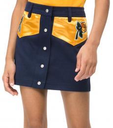 Calvin Klein Girls Peacot Western Mini Skirt
