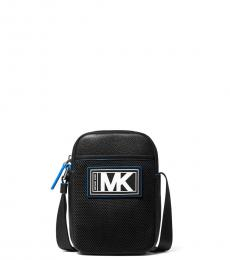Michael Kors Black/Neon Blue Cooper Smartphone Mini Crossbody