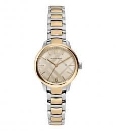 Burberry Silver-Gold Two Tone Watch