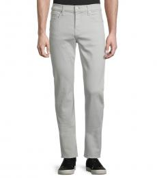 7 For All Mankind Light Grey Slimmy Straight-Leg Jeans