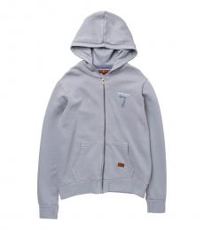 7 For All Mankind Boys Grey Graphic Zip Hoodie